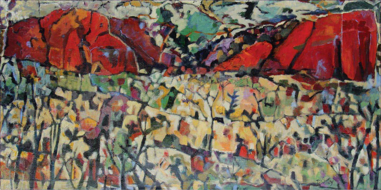 cDOIL 34 Red Rock View 36x 72 acrylic