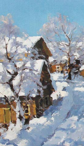 cKRE 145 Alexander Kremer Frosty Morning 27.5 x 37.5 oil