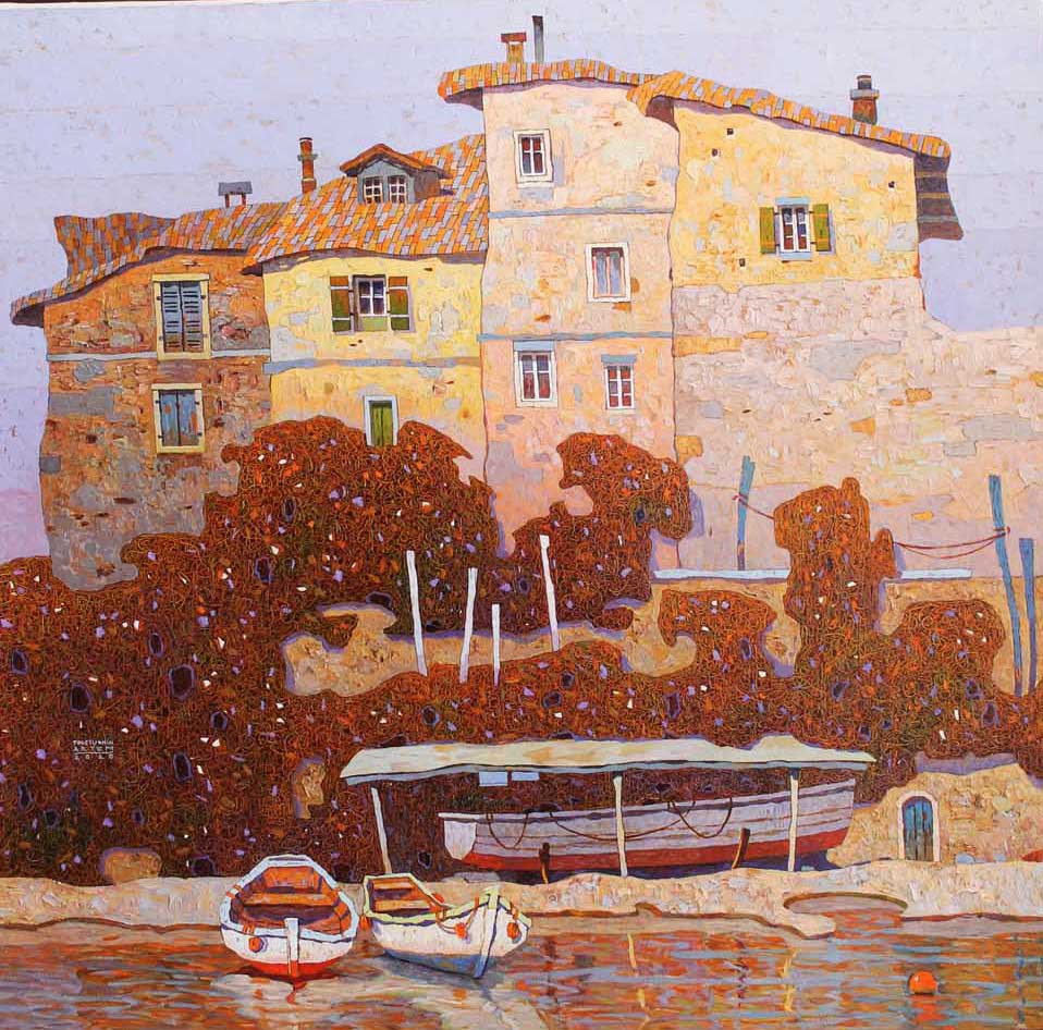 cTOLST 156 Artem Tolstukhin Cozy Evening in France 37.63 x 39 oil on canvas 2020