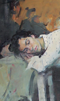 cZLOB 01 Illia Zlobin Sleep 64 x 49 oil 2018