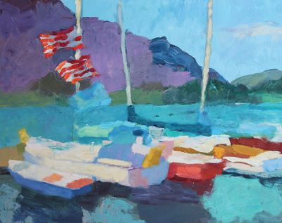 Larisa Aukon: Selected Sold Works - Sailboats