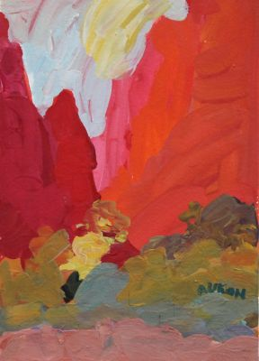 Larisa Aukon: Selected Sold Works - Canyon Red