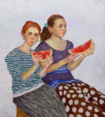 Click Here for Selected Sold Works - Slices of Watermelon