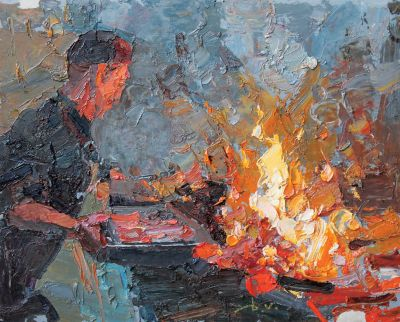 Click here to see selected sold works - On the Fire 2