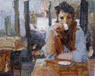 Click here to see selected sold works - First Sip (Waiting for a Miracle)