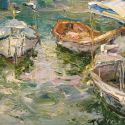 Tuman Zhumabaev - Boats in the Sun