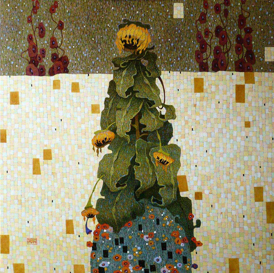 cTOLST 155 Artem Tolstukhin Sunflower 39.38 x 39.38 oil on canvas 2020