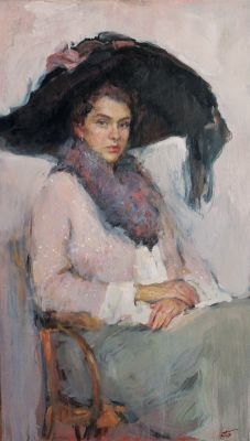 Ekaterina Belova - Portrait of a Young Woman in a Hat