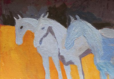 Larisa Aukon - Three Blue Horses