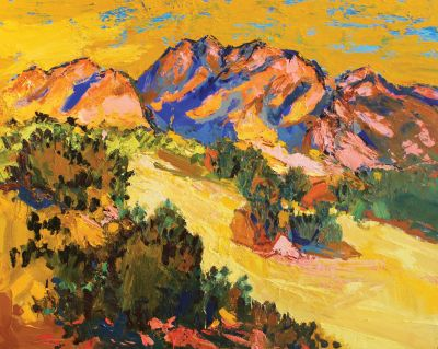 Click Here for Selected Sold Works - Mustard Mountain at Warpaint