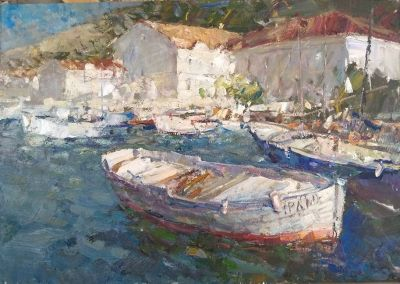 Click Here for Selected Sold Works - Boat in the Harbor