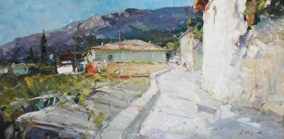 Click Here for Selected Sold Works - Road in Gurzuf