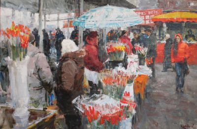 Click Here for Selected Sold Works - Flower Sellers