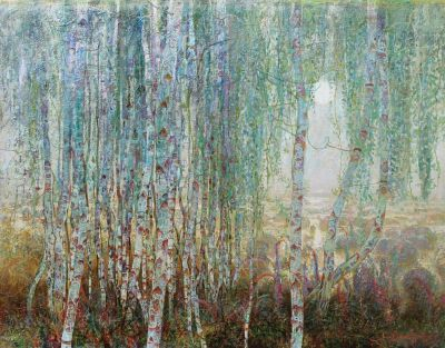Click Here for Selected Sold Works - Birches in the Mist