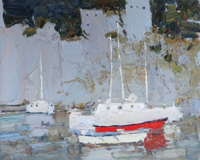 Click here to see selected sold works - Red Boat