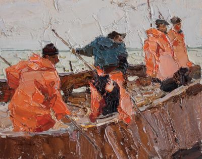 Click here to see selected sold works - Fishermen at Dock