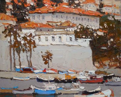 Click here to see selected sold works - Town at the Sea