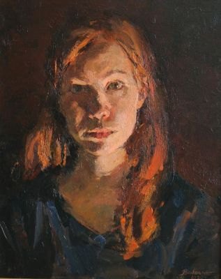 Olga Volkova - Self Portrait Under a Fluorescent Lamp
