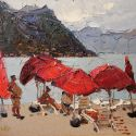 Click here to see selected sold works - Red Umbrellas